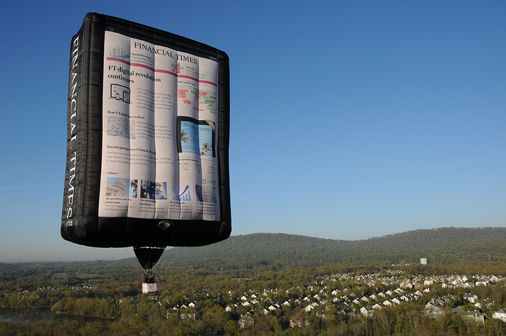 The FT Web App on a Balloon.