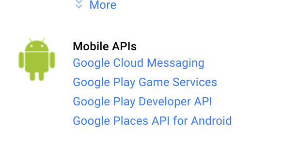 Google Cloud Messaging, in the dashboard